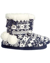 H&M Blue Slippers - Lyst