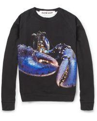 Katie Eary - Lobsterprint Fleeceback Cotton Sweatshirt - Lyst