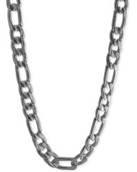 Marc Ecko | Silvertone Link Chain Necklace | Lyst