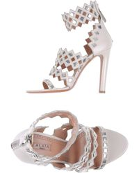 Alaïa G Highheeled Sandals - Lyst