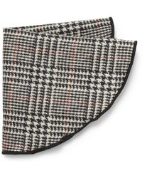 Alexander Olch | Prince Of Wales Check Wool Pocket Round | Lyst