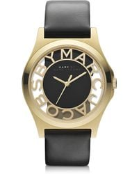 Marc By Marc Jacobs Henry Skeleton 40mm Stainless Steel Watch Wleather Strap - Lyst
