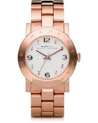 Marc By Marc Jacobs Amy 36.5Mm Rose Stainless Steel Bracelet Watch - Lyst
