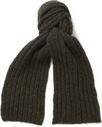 Margaret Howell - Flecked Merino Wool and Cashmereblend Scarf - Lyst