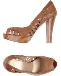 Stuart Weitzman Courts with Open Toe - Lyst