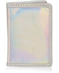 TOPSHOP - Hollographic Travel Card Holder - Lyst
