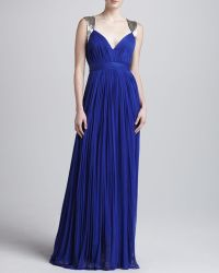 Catherine Deane Dasha Long Pleated Gown - Lyst