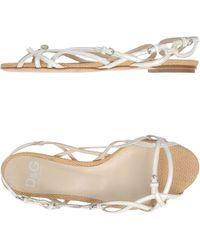 D&G Beige Sandals - Lyst