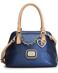 Guess Guess Handbag Margeaux Amour Dome Satchel - Lyst