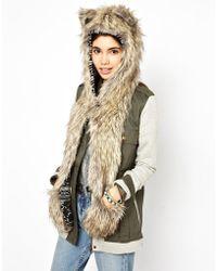 Spirit Hoods - Coyote Rocky-Knit Scarf - Lyst