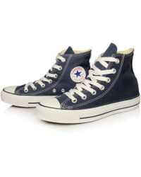Converse Navy Chuck Taylor All Star Hi Top Trainers - Lyst