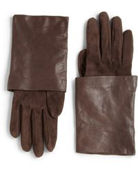 Brunello Cucinelli Suede and Leather Gloves - Lyst