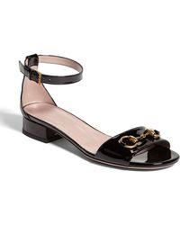 Gucci Liliane Ankle Strap Sandal - Lyst