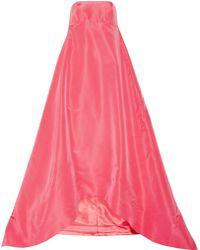 Oscar de la Renta Pleated Silk-Faille Gown - Lyst