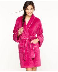 Tommy Hilfiger Super Soft Short Robe - Lyst