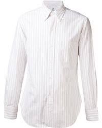 Black Fleece By Brooks Brothers - Stripe Pattern Shirt - Lyst