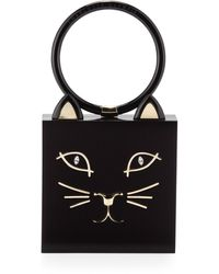 Charlotte Olympia Kitty Square Acrylic Box Clutch - Lyst