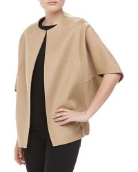 Michael Kors Doublefaced Cape Jacket Fawn - Lyst