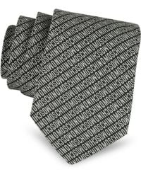 Moschino Narrow Signature Silk Tie - Lyst