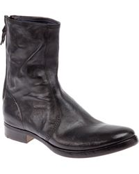 Premiata Distressed Ankle Boot - Lyst
