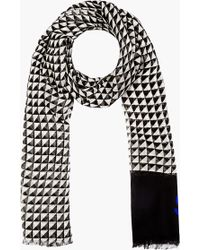 Proenza Schouler - Black and White Triangle Print Scarf - Lyst