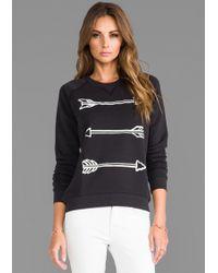 Zoe Karssen Arrow Sweatshirt In Black - Lyst