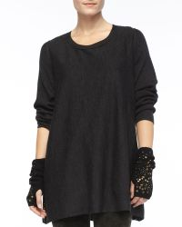 Eileen Fisher Links Glovettes with Sequins - Lyst