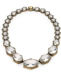 Giles & Brother - Crystal Hexagon Link Necklace - Lyst