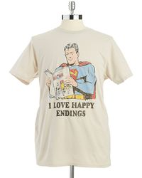Junk Food - Super Man Vintage T-Shirt - Lyst