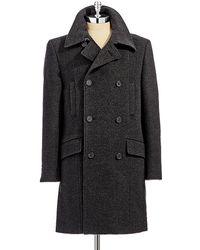 7 Diamonds Wool Pea Coat - Lyst