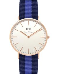 Daniel Wellington Classic Swansea Ladies Watch blue - Lyst