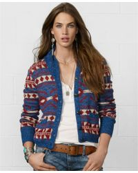 Denim & Supply Ralph Lauren - Long Sleeve Tribal Print Cardigan - Lyst