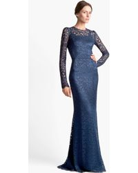Dolce & Gabbana Long Sleeve Lace Gown - Lyst