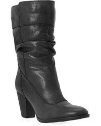 Dune Rad Leather Boots Black - Lyst