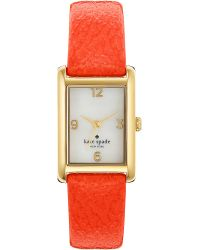 Kate Spade Cooper Goldplated Metal and Leather Watch Orange - Lyst