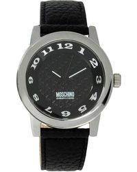 Boutique Moschino | Stainless Steel and Leather-Strap Watch | Lyst