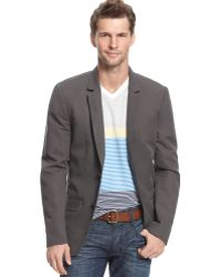 Guess Jeans Jacket Horizon Linen Blazer in Gray for Men | Lyst