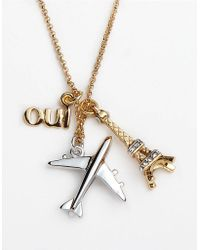 Juicy Couture - Jetset Charm Cluster Necklace - Lyst