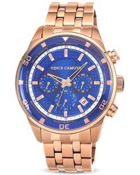 Vince Camuto - The Apollo Blue Dial Watch 38mm - Lyst