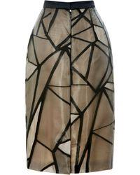 Bibhu Mohapatra - Fracture Organza Jacquard Skirt - Lyst