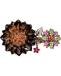 Bochic - Oneofakind Double Finger Flower Ring - Lyst