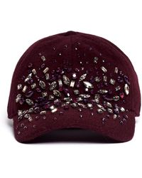 J.Crew | Embellished Wool Baseball Cap | Lyst