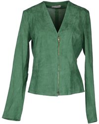 Roberto Collina Leather Outerwear - Lyst