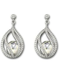 Swarovski Megan Pierced Earrings - Lyst