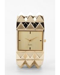 Urban Outfitters Pyramid Studded Watch - Lyst