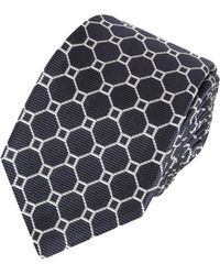 Black Fleece By Brooks Brothers - Octagon Pattern Tie - Lyst