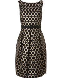 Eliza J Spotted Jaquard Shift Dress - Lyst
