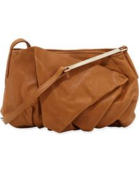 Halston Heritage Leather Foldfront Crossbody Bag Toffee - Lyst