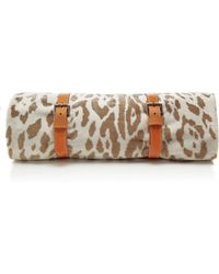 Maslin & Co. Jaguar Hide Towel with Tan Strap - Lyst