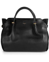 Nina Ricci Marche Suede-Paneled Leather Tote - Lyst